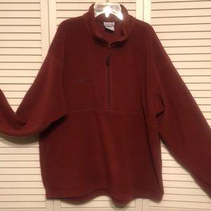 Columbia Brick Red Pullover Polar Fleece SZ XL